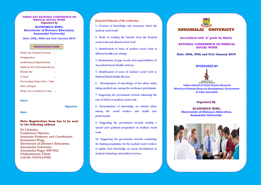 national conference on medical social work economics wing - dde
