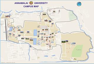 Rti Campus Map.Annamalai University